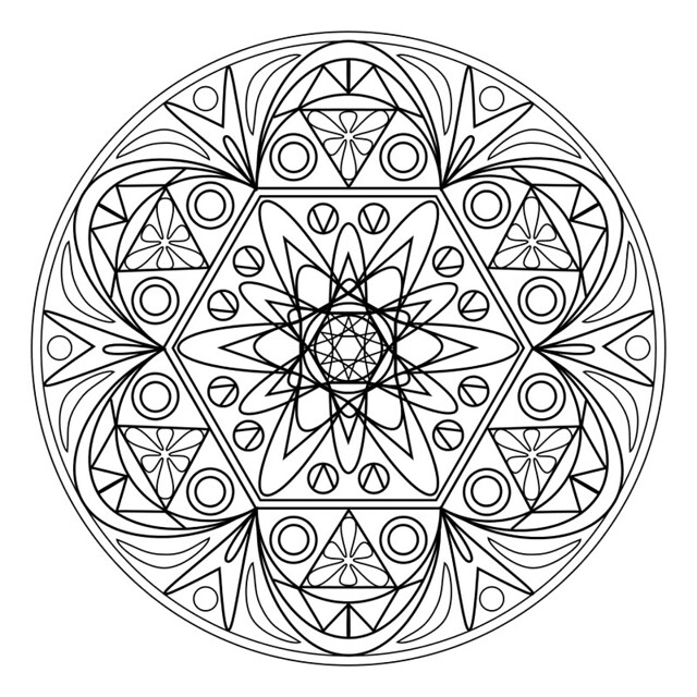 mandala coloring pages of sunday - photo#23