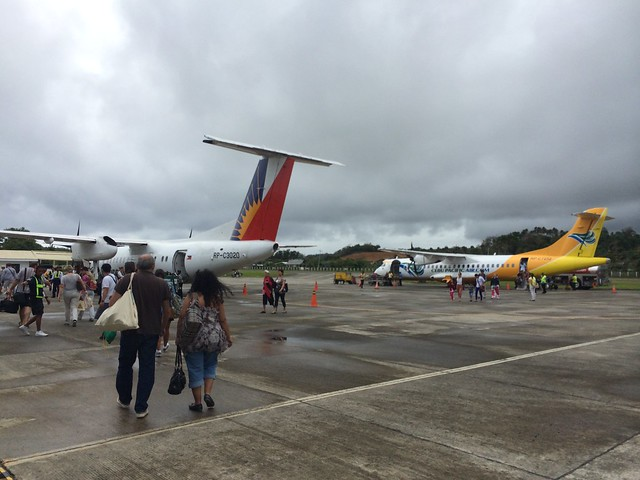 Boarding our PAL flight