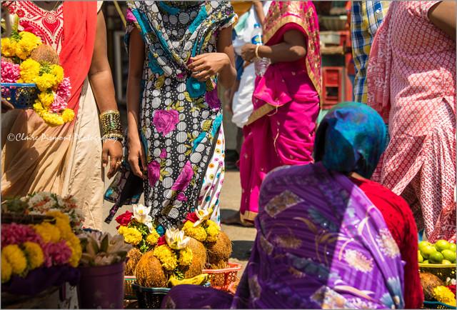 Market.  Chamundi Hill
