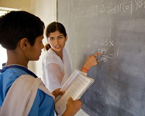 Teacher in action, Rajasthan