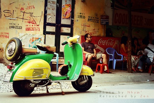 Vespa in old town by ♥ Huo Zen ♥