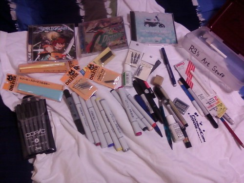 Rescued From The Abyss (1 in a semi-continuing series): Art Supplies and CDs!