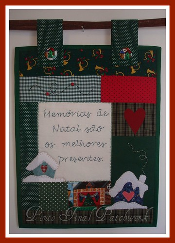 ...Panô de Natal em Patchwork... by Ponto Final - Patchwork
