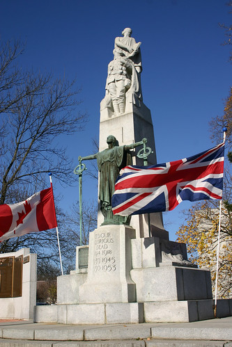 Cenotaph in Downtown Guelph by Our Enchanted Garden