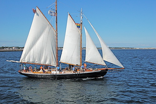 Setting sail off Provincetown