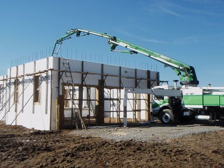 ICF home has solid concrete exterior walls.