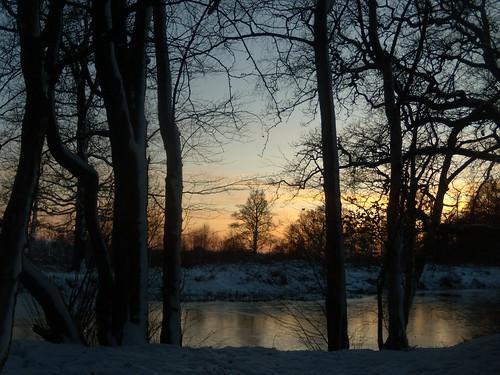 Sundown at Penshurst - looking back