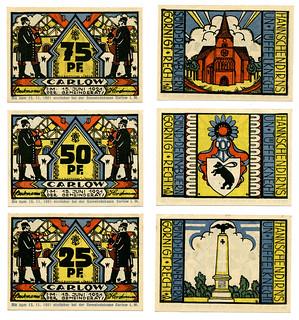 """German notgeld """"emergency money"""" from Carlow 1921"""