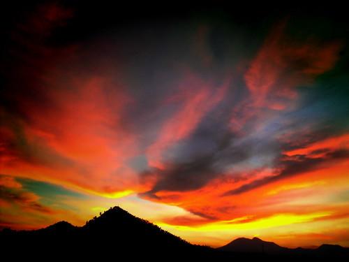 sunset mexico atardecer mexicocity df cerro ciudaddemexico xochimilco distritofederal embrujo tepepan xochitepec brujerizzmo santacruzxochitepec