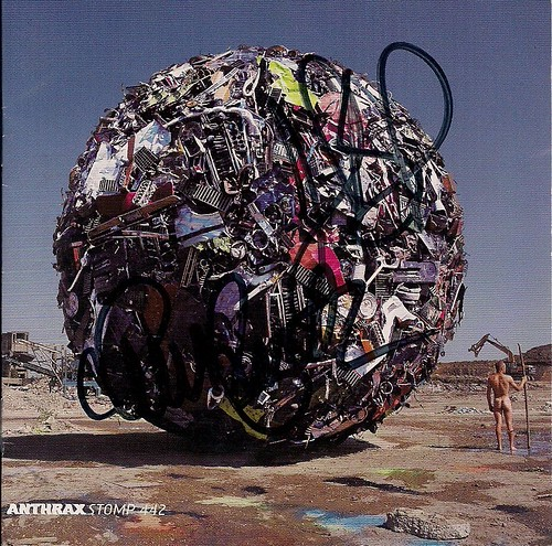 1995 Anthrax - Stomp 442 CD Booklet (Autographed by Charlie Benante and John Bush)