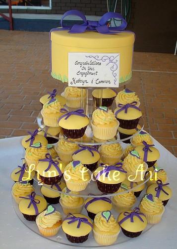 Lyn s Cake Art: Engagement Cupcake Tower