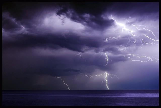 ...lightning in the rain...