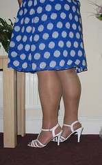 Pantyhose And White Sandals