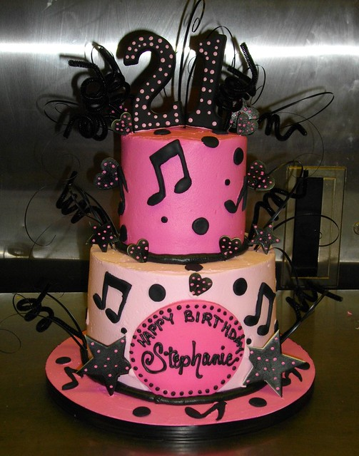Cake Design Musical Notes : MUSIC NOTES 21st CAKE Flickr - Photo Sharing!