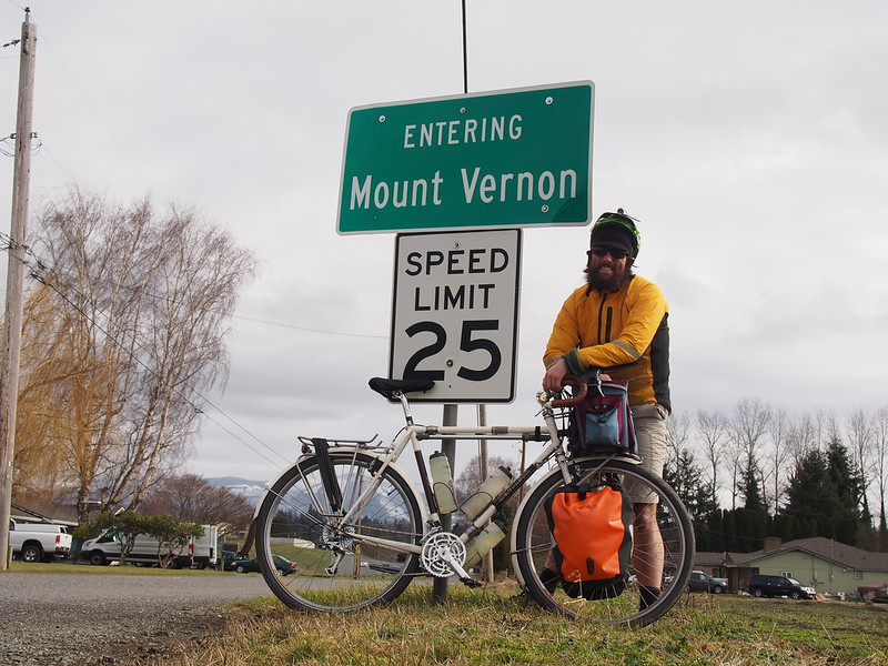 Neil and Ivory Pass Entering Mount Vernon: The sign was turned like that when I got there.
