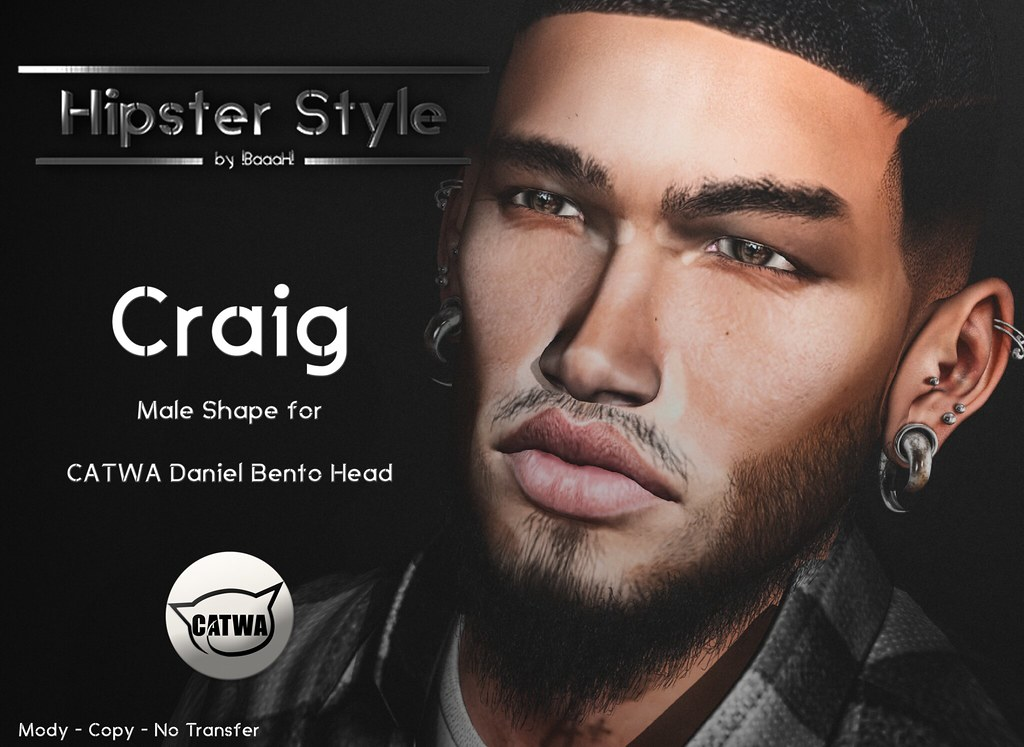 [Hipster Style] Craig Male Shape for CATWA Daniel Bento Head - SecondLifeHub.com