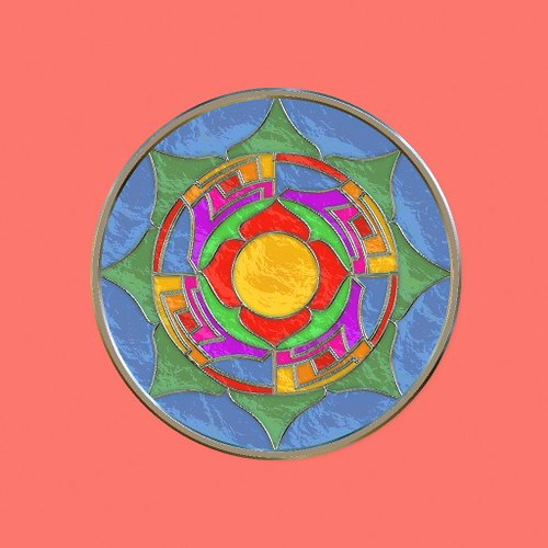 Mandala Stained Glass