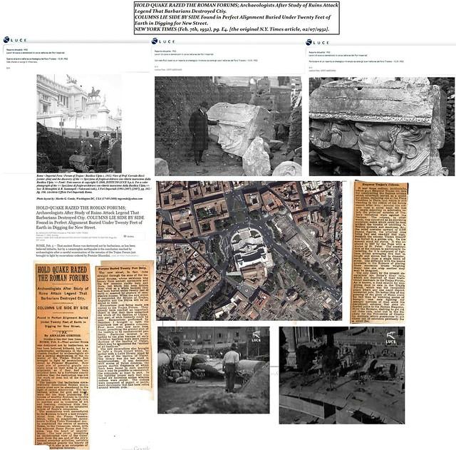 ROMA ARCHEOLOGIA: Il Foro di Traiano - Cantiere di scavo del Foro di Traiano (1998-2000): Prof. Corrado Ricci & Basilica Ulpia, in: THE NEW YORK TIMES (07/02/1932), p. E4, & Archivo Storico LUCE (01/1932) [2010].