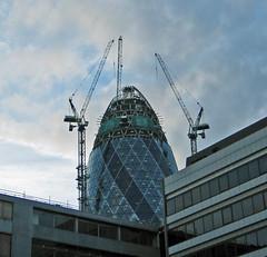 City of London - Feb 2003 - The Gherkin under Construction