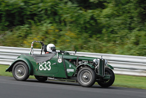 Number 833 1953 MG TD driven by Paul Fitzgerald