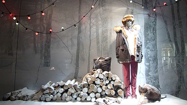 Vitrines de no l printemps de l 39 homme paris decembre 2009 flickr photo sharing - Vitrine de noel paris ...