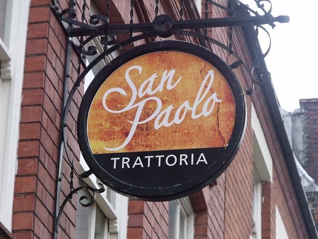 Sao Paolo Bar - 24 Ludgate Hill, Birmingham - Sao Paolo Trattoria pub sign