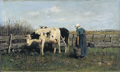 Mauve, Anton (1838-1888) - 1875c. Milking Time (National Gallery, London)