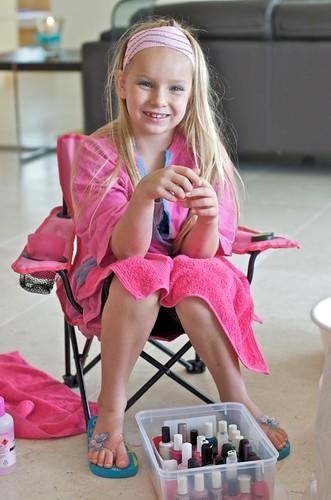 Little girls wearing thongs