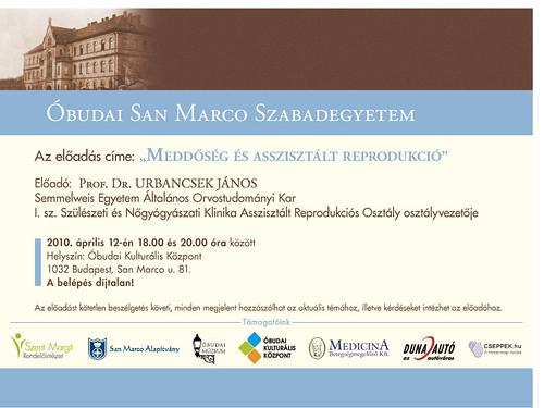 San Marco Szabadegyetem: Prof. Dr. Urbancsek János