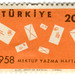 Turkey postage stamp: letter writing week