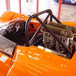 Orange racing car, circuit de Nevers Magny-Cours