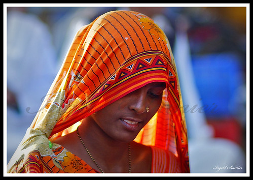 Indian Woman, Market of Jodhpur, Rajasthan, India