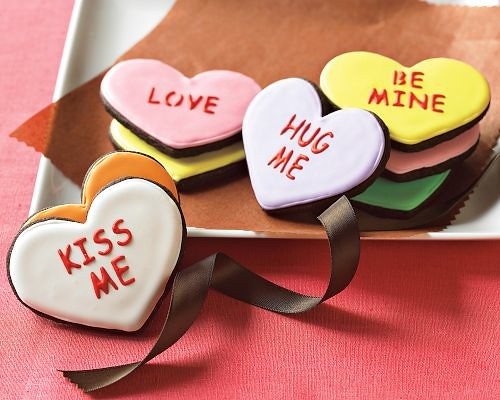 Message Heart Cookies-Williams-Sonoma