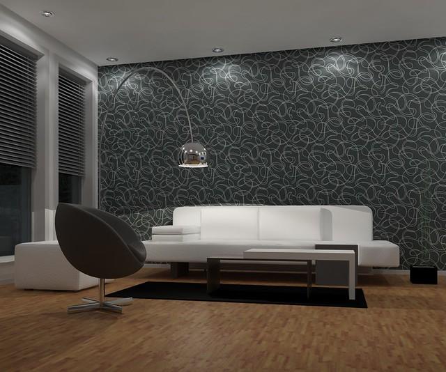 Living room night design