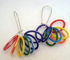 Looped Rainbow Candy Drop Earrings