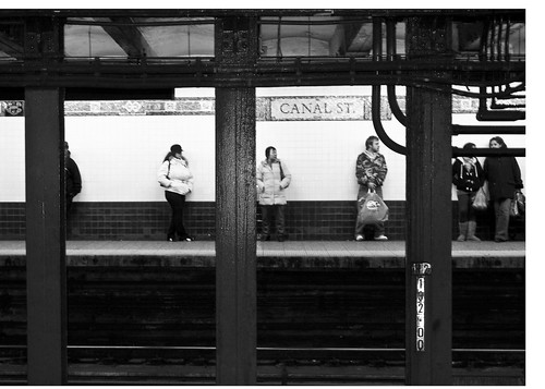 Canal St Subway 5x7 bnw