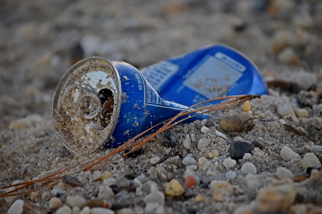 Discarded Pepsi can