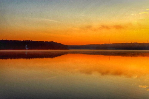 sunrise lakecrabtree redinthemorning