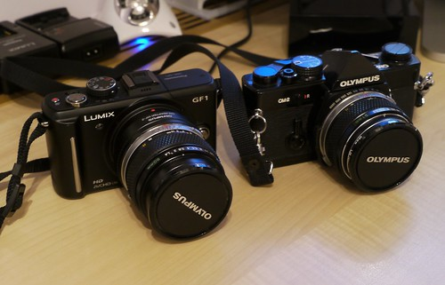 Lumix GF1 and Olympus OM2