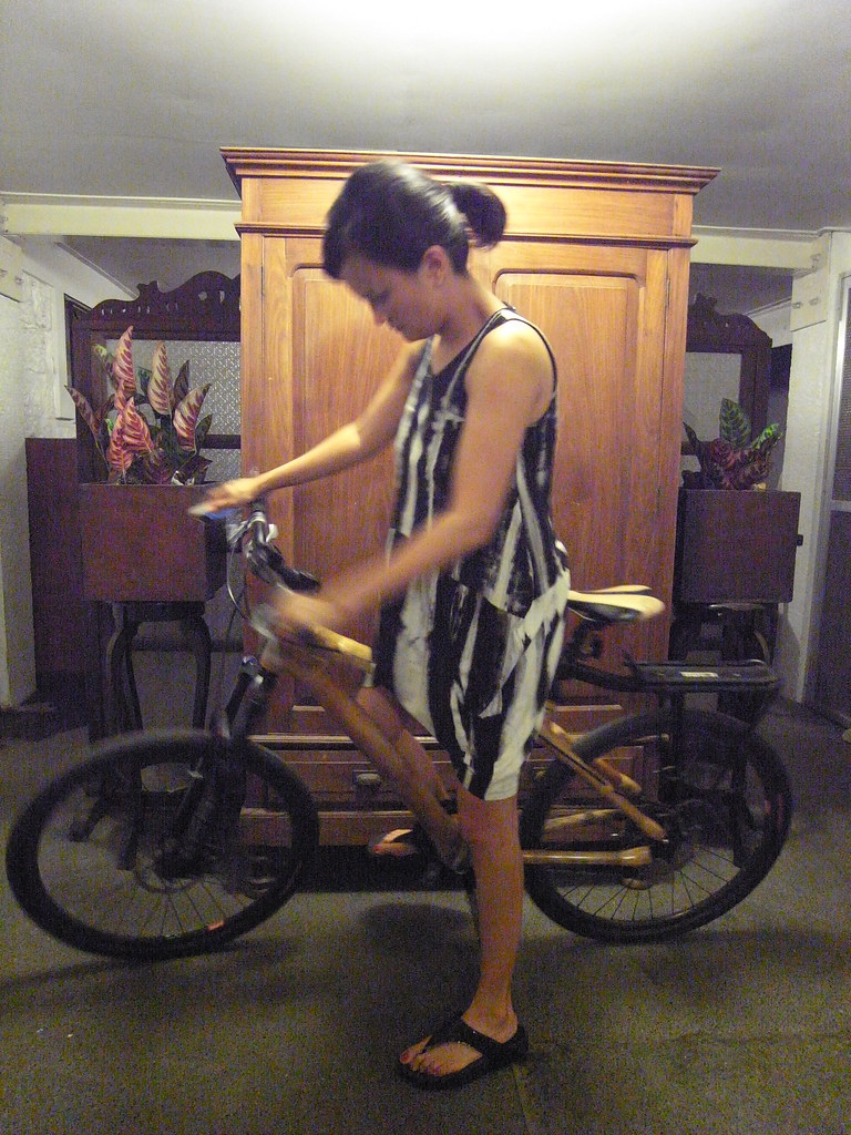 Our friend Hecky Villanueva's bamboo bike