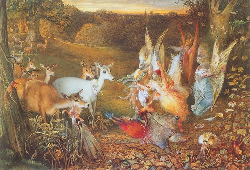 "John Anster Fitzgerald , ""The Enchanted Forest"""