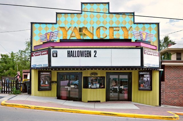 Front yancey theater 1939 119 west main street for Burnsville theater