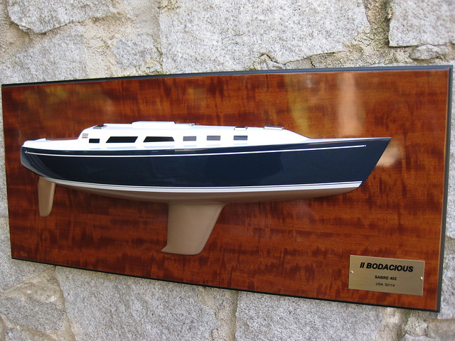 "This is the 24"" model of Sabre 402 with fin keel."