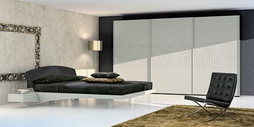 Mazzali: BE FREE wardrobe with NEWPORT bed.  Bedroom area