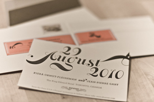 Save the Date with envelope liner and address label