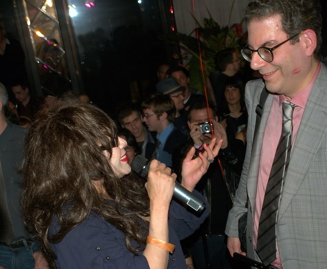 Ronnie Spector and Michael Musto