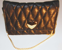brown, coin purse, handbag, leather, wallet, chain,