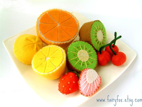 felt food lovely fruit