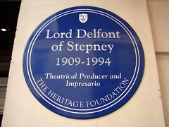 Photo of Bernard Delfont blue plaque