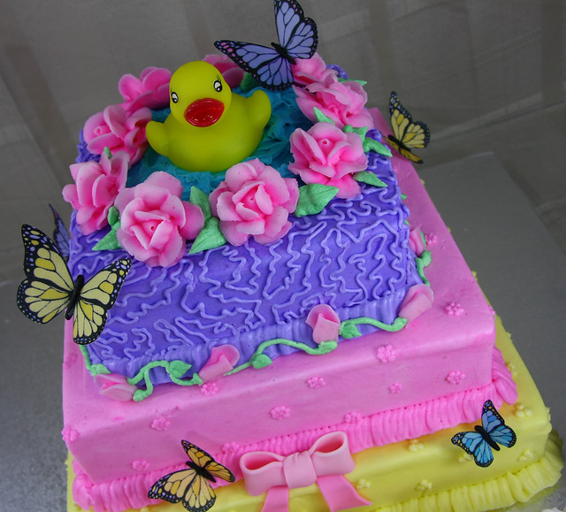buttercream baby shower cake rubber ducky flickr photo sharing